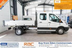 2016 65 FORD TRANSIT 2.2 350 L3 DCB 124 BHP DOUBLE CAB TIPPER DIESEL