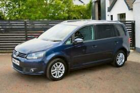 2012 62 VOLKSWAGEN TOURAN 1.6 SE TDI BLUEMOTION TECHNOLOGY 5D FSH NIGHT BLUE PAN