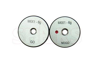Shars M6 X 1 Go No-go Thread Ring Gage 2pcs Set New