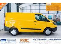 2014 14 FORD TRANSIT CUSTOM 2.2 310 LR P/V 124 BHP DIESEL YELLOW PANEL VAN