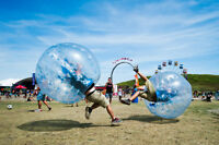 Bubble soccer for team building, bachelor(ettes), or birthdays!