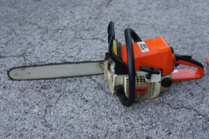 Stihl chainsaw with cover