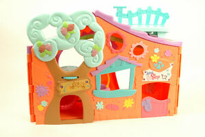 LPS LITTLEST PET SHOP ORANGE CLUB TREE HOUSE PLAY SET