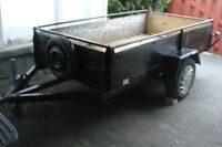 by phone only,nice trailer 4'x8' strong metal floor