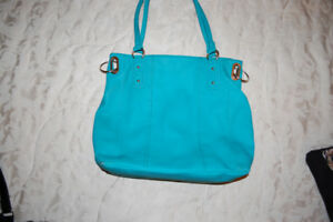 Beautiful large purse in turquoise green colour