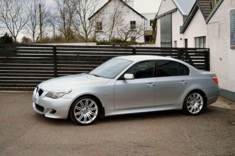 2008 BMW 5 SERIES 20 520D M SPORT 4D AUTO TITAN SILVER 19