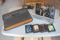 ATARI 2600 Wood Grain 6 Switch Console