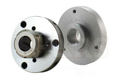 MT3 adapter flange for 80mm lathe chuck with M12 draw bar