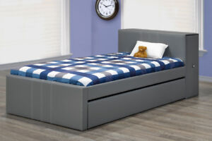 DISCOUNTED PRICE - Single/twin size bed with storage and trundle