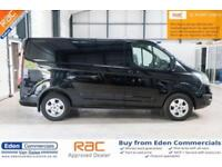 2015 15 FORD TRANSIT CUSTOM 2.2 290 LIMITED LR P/V 124 BHP DIESEL BLACK