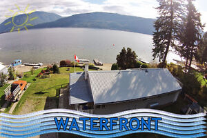 Little Shuswap Lake lease opportunity with spacious cabin!