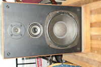 """Stereo Speakers,   Two,    Japan,   14""""w x 25""""h x 10""""d"""