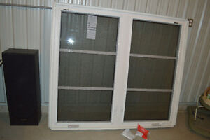 Double Casement Vinyl Window 6 ft 4 inches X 4 ft 8 inches