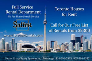 Full Service Rental Department - NO FEE  Home Search Service!