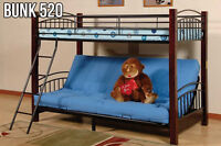 Bunk Bed with Futon Frame -LOW MARK-UPS ON FURNITURE! (Bunk 520)