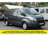 2015 FORD TRANSIT CUSTOM 290/125 LIMITED L2H1 LWB IN MAGNETIC GREY WITH ONLY 44.