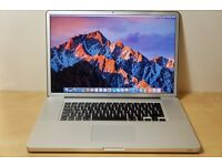 """APPLE MACBOOK PRO 17""""-(mid 2012)-excellent condition-core i7-2.5GHz/8GB/500GB"""