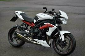 ***STUNNING 2014 TRIUMPH STREET TRIPLE R ABS LOW MILEAGE 10066 FSH PX WELCOME***