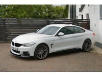 2015 65 BMW 4 SERIES 2.0 420D M SPORT 2D AUTO ALPINE WHITE FBMWSH DIESEL