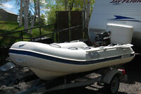 10' RIB Dingy with 9.9- 4 stroke Mercury outboard