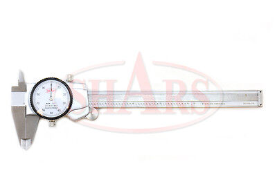 Shars 6 .001 Premium Series Shock Proof Stainless Steel Dial Caliper New