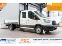 2016 16 FORD TRANSIT 2.2 350 L4 DCB CREW DOUBLE CAB DROPSIDE DIESEL