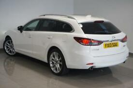 2013 White Mazda Mazda6 2.2D ( 175ps ) SKYACTIV-D Nav Tourer Sport - FINANCE