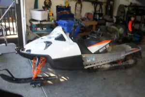 TWO ARCTIC CAT SNOWMOBILES