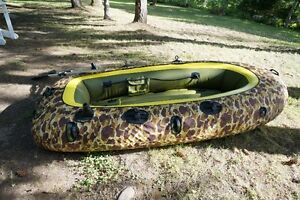 Sevylor 8 Foot Inflatable Dinghy with Camo Cover