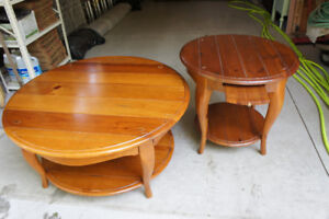 Coffee and Side Tables - Schnadig, High End, Solid Wood