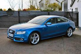 2010 AUDI A5 S LINE SPORTBACK 177 ARUBA BLUE FSH 3 KEYS 1 OWNER LOW RATE FINANCE