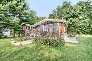 Waterfront cottage 1 hr from Ottawa on the Quebec side (less $$)