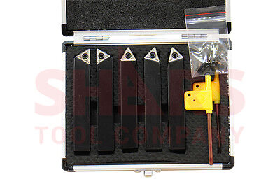 5 8  5Pc Indexable Carbide Inserts Turning Tool Bit Set
