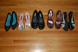 steve madden, puma, blowfish shoe lot