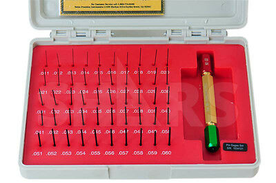50 Pc .011-.060 Class Zz Steel Pin Gage Set Minus Nist Certificate New