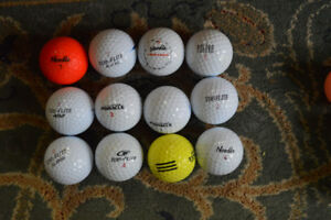 Assorted largely Pinnacle, Top Flite and Noodle golf balls