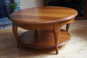 Schnadig Solid Wood Coffee Table (Matching side table posted)