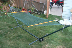 Premium Lee Valley Hammock with heavy duty stand.