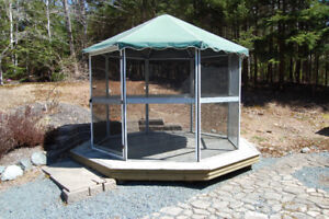 Screened Gazebo with Deck **Sold PPU on Saturday**
