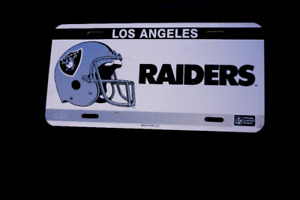 Los Angeles raiders lic.  plate