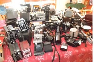 Over 40 cameras and lenses from the 40s to 70s l