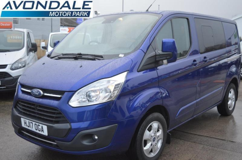 7ab16664ee 2017 FORD TRANSIT CUSTOM 290 LIMITED LR DCB CREW DOUBLE CAB 170 BHP BLUE VAN  CO