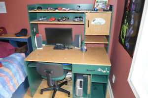 Moving Sale! Student Desk and Bookcase Combo