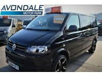 2014 VOLKSWAGEN TRANSPORTER T28 T5 BLACK TDI TRENDLINE SPORTLINE KIT VERY LOW MI
