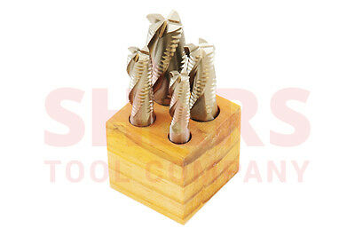 Shars 12-1 M2al Roughing End Mill Set New