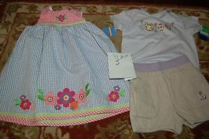 different size kids cloth