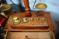 Antique Jeweller's Scales with weights included