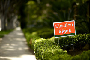 **Lawn Sign Double sided Printing, Stand Included, $30*