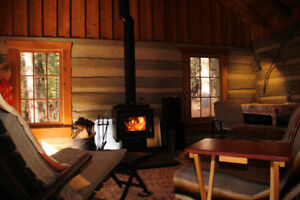 log cabin rental Huntsville/Lake of Bays area
