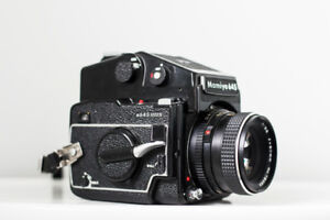 MINT MAMIYA 645 1000s w/ Leather Bag, 50mm, 80mm Lenses + extras